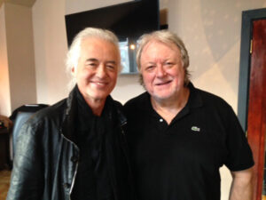 Jimmy Page with Chris Kimsey
