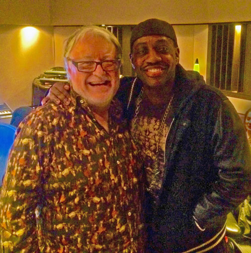 Chris Kimsey with Steve Jordan at Germano Studios NYC working on Noah Francis Johnson album