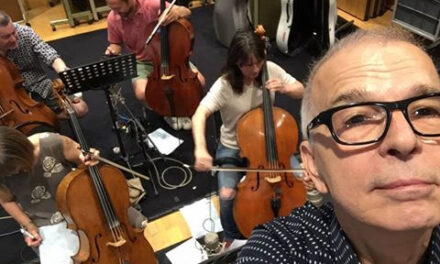 Facebook Post | Tony Visconti with Chris Kimsey at Air Lyndhurst studios