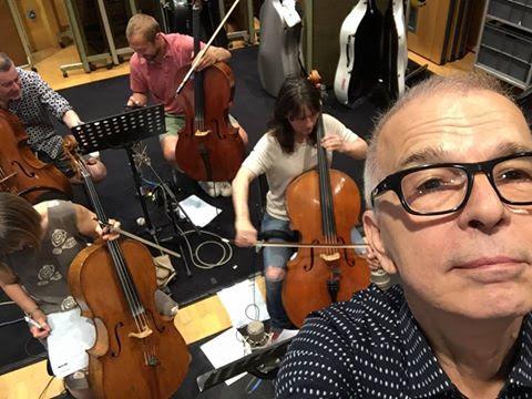 Facebook Post | Tony Visconti with Chris Kimsey at Air Lyndhurst studios