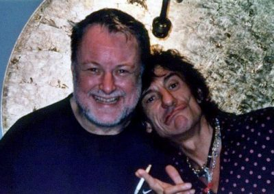 Chris with Ron Wood