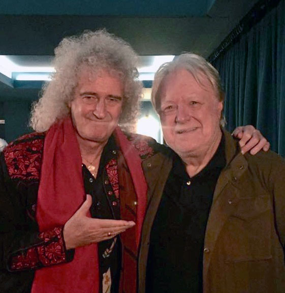 Brian May with Chris at the new Olympic Studios screening room